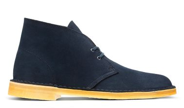 midnight blue desert boots